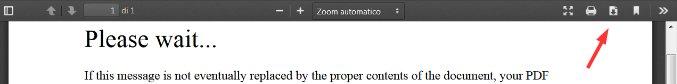 Dove cliccare se non si apre il pdf