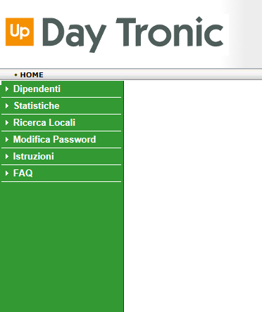 menu di navigazione sito Day