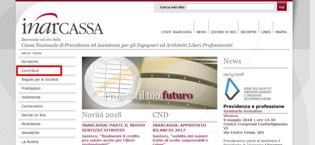 Home page Inarcassa