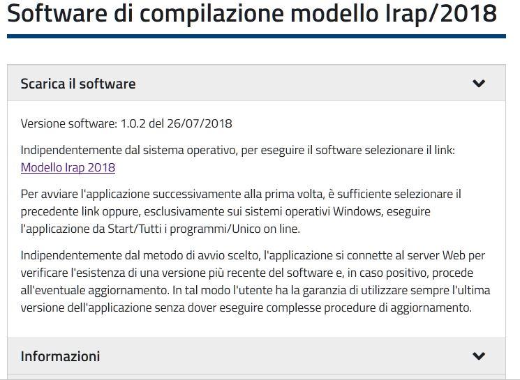 guida compilazione denuncia IRAP 2018
