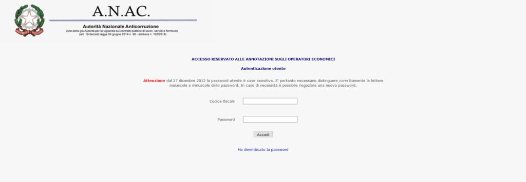 casellario ANAC