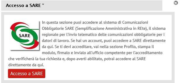 Accesso SARE