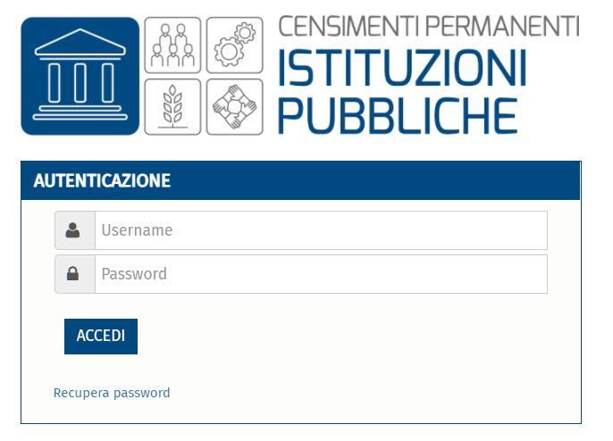 Accesso rilevazione censuaria ISTAT