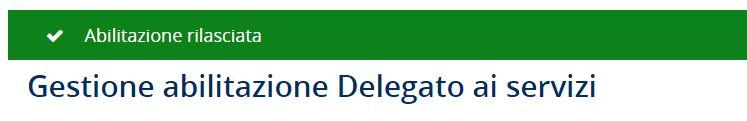 creare i delegati